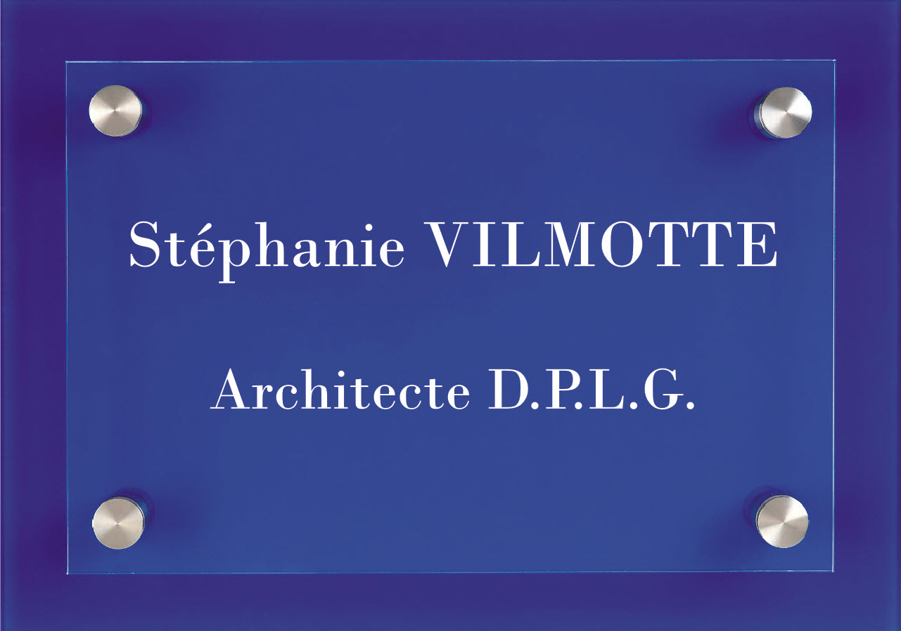 exemple plaque architecte