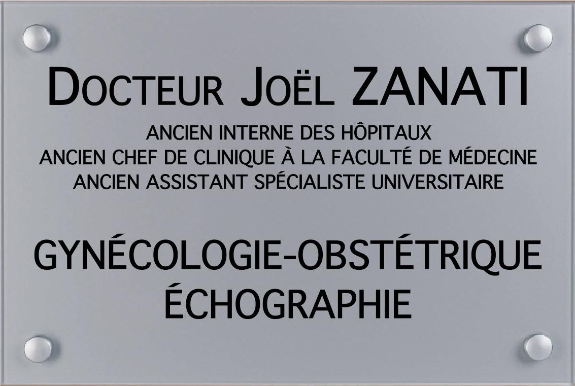 plaque de gynécologue argent gravure noire