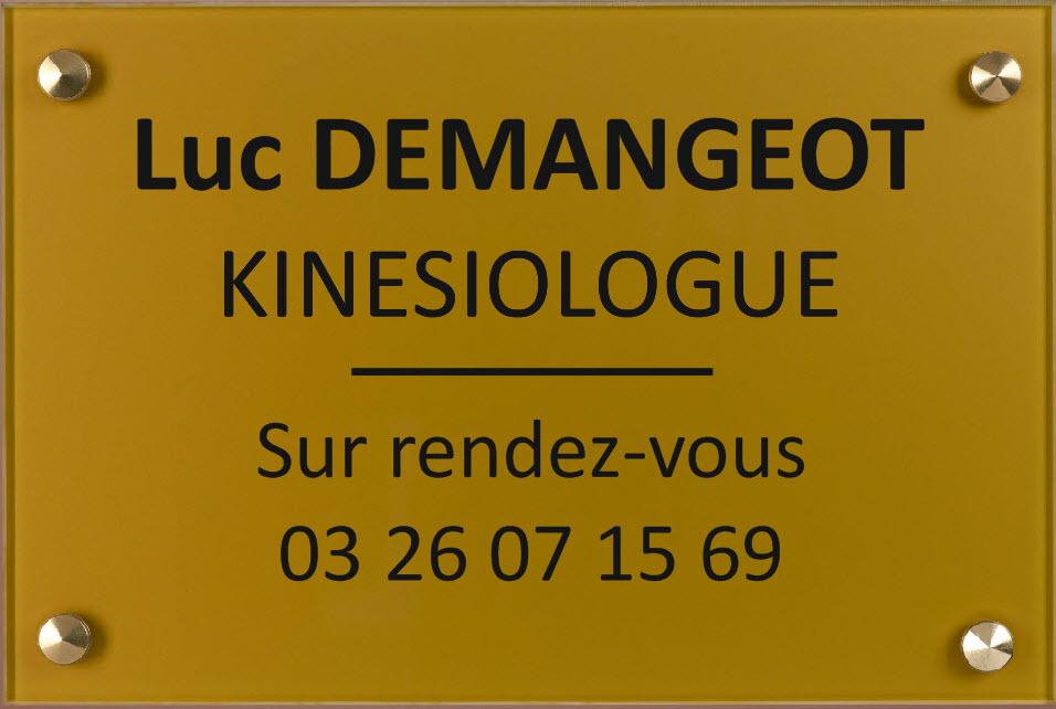 plaque pour un kinesiologue format 300 mm x 200 mm