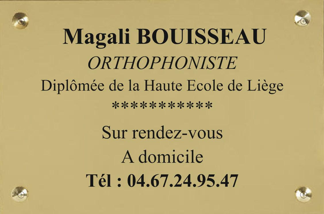 plexi or et gravure noire pour une orthophoniste