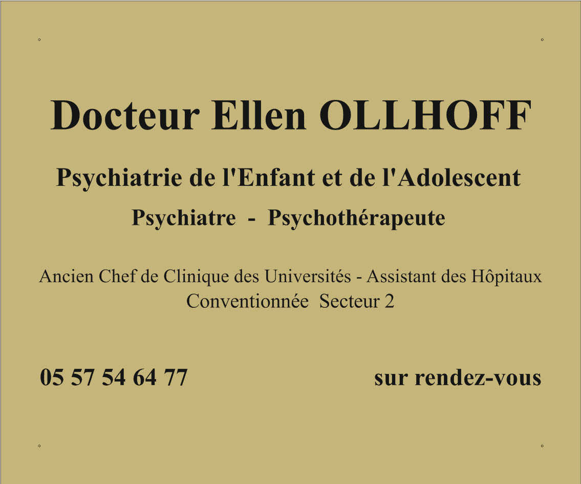 plaque de psychiatre en plexi