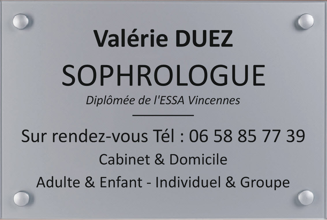 plaque de sophrologue 300 mm x 200 mm