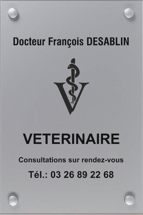 plaque vétérinaire 300 mm x 400 mm