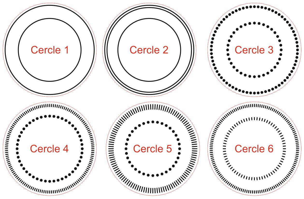 Exemples cercles Pince a sec de bureau EH