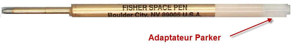 détail Recharge Fisher space pen - cartouche pressurisé