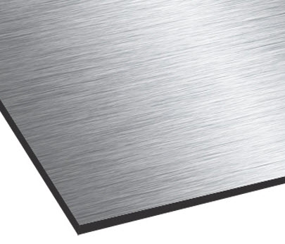 nuancier plaque professionnelle aluminium brossé composite