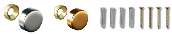 fixations pour plaque professionnelle aluminium anodisée