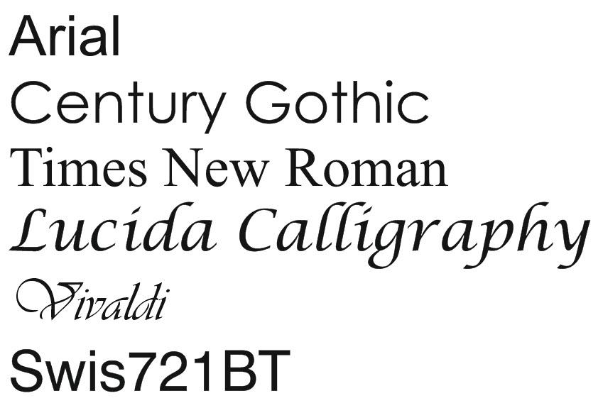 police de caractères pour plaque de boîte à lettres - 93 x 25 mm