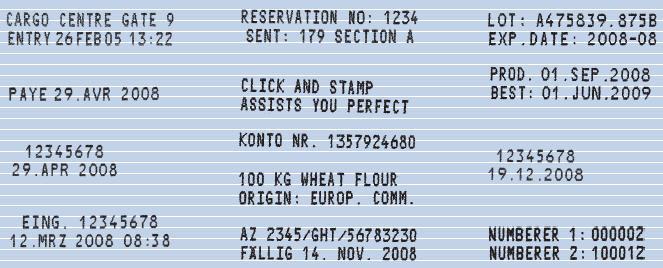 empreinte Jetstamp Reiner 790/791/792