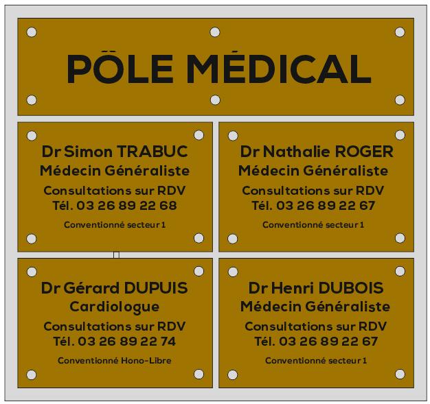 multi plaques 4 plaques et un bandeau