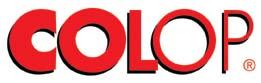 Logo de la société COLOP, fabriquant de tampons